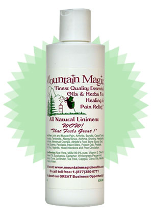 All Natural Liniment: 8oz.bottle