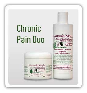 Chronic Pain Duo: 1 8oz Liniment &  1 4oz Bone Magic